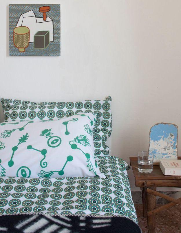 Du linge de lit à motifs ethniques