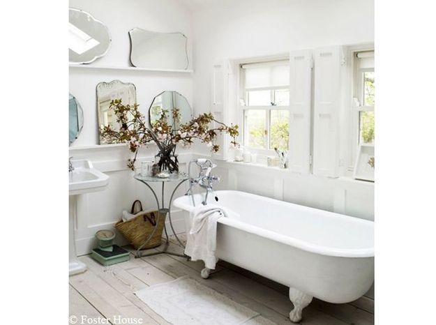 Côté salle de bains