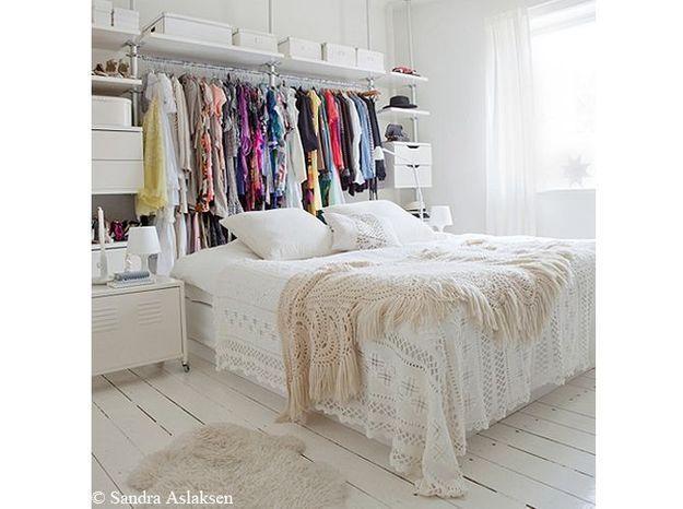 chambre bohème blanche