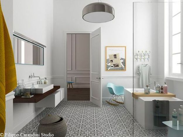 salle de bain rétro-design