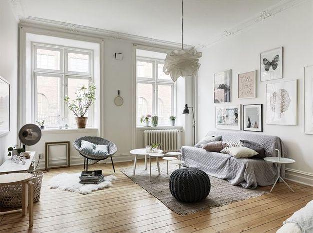 salon blanc scandinave