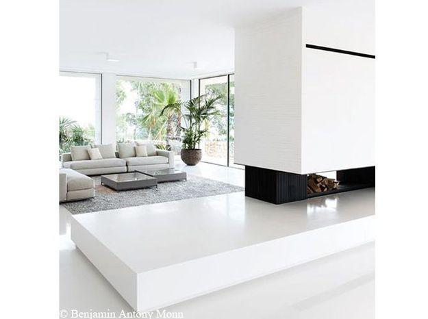 salon blanc contemporain
