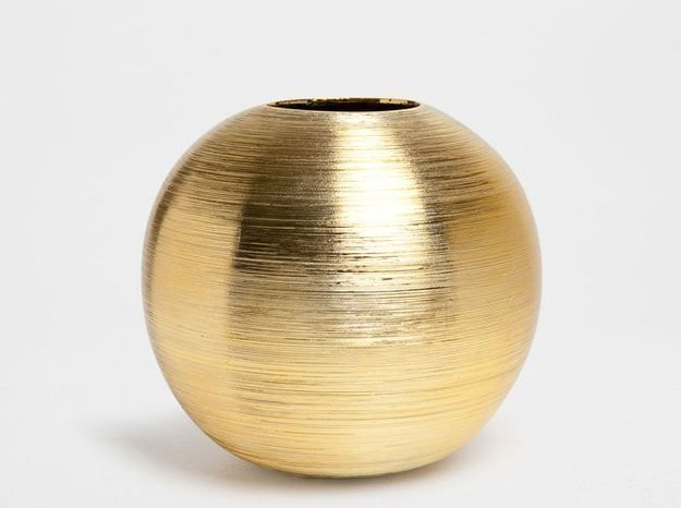 Vase Rond Or