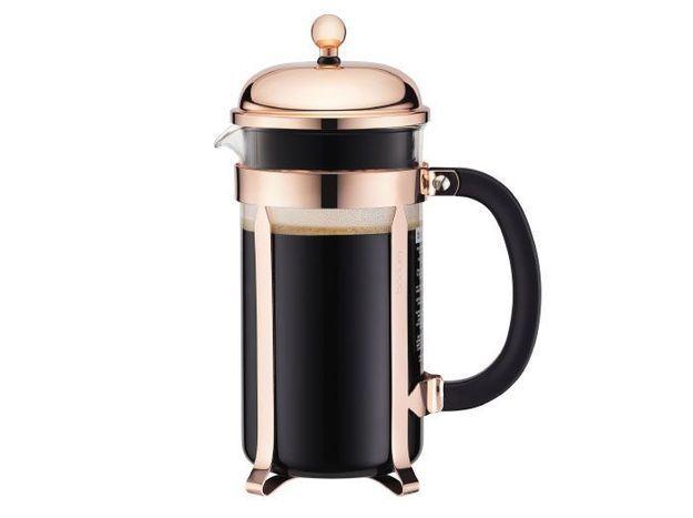 Cafetière design rose gold