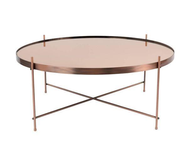Table basse métallique rose gold