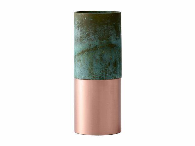 Vase or rose et vert