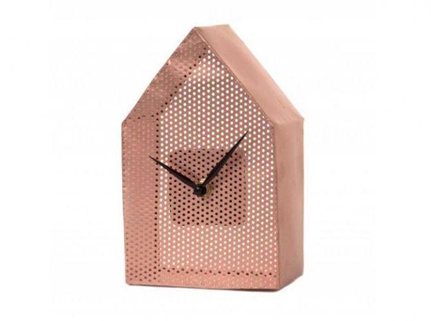 Horloge forme maison present time