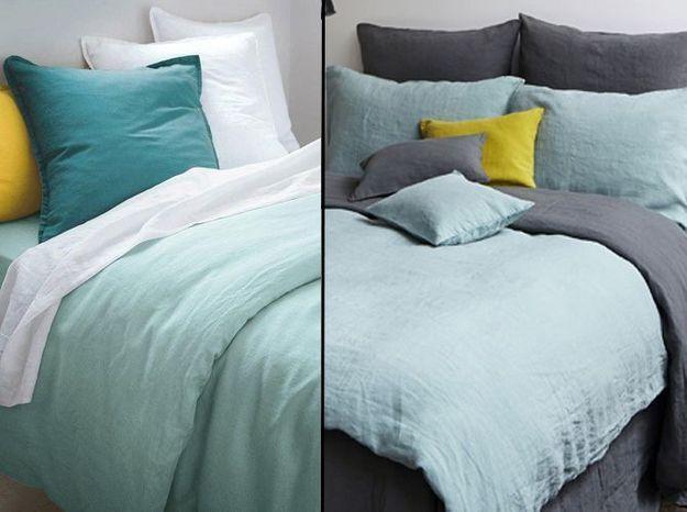 1 objet 2 budgets le linge de lit en lin merci versus. Black Bedroom Furniture Sets. Home Design Ideas