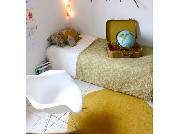 Le jaune moutarde dans la chambre d'enfant