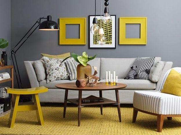 Le jaune moutarde en duo avec le noir ou le gris