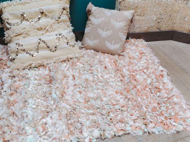 Coussin tapis lorafolk