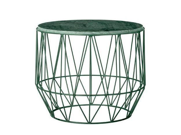 Une table basse très tendance en marbre vert