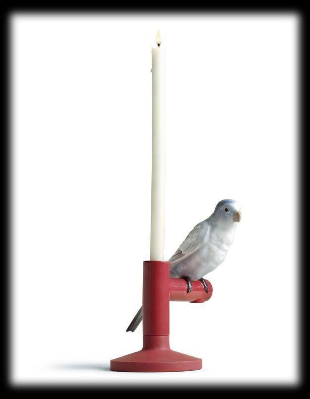 Bougeoir perroquet Parrot Light Lladro