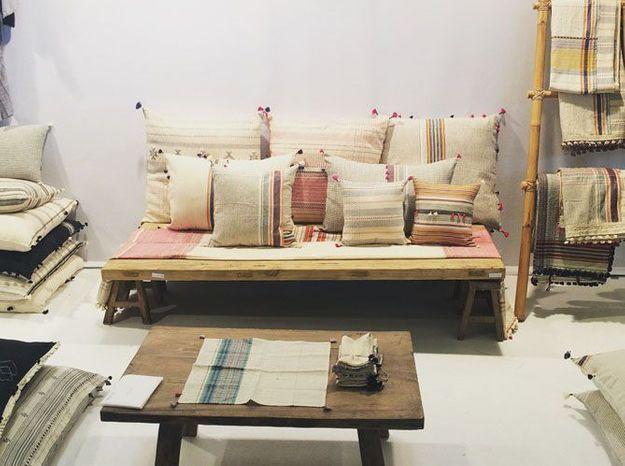 La collection de linge de maison fabriquée en Inde d'Injiri