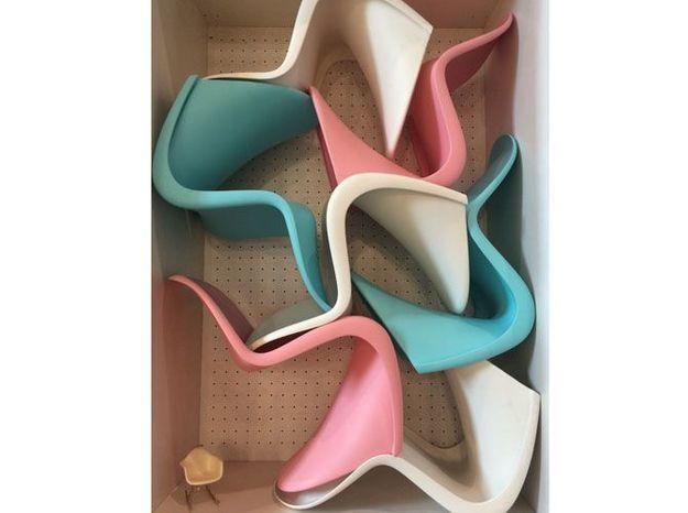 Les chaises acidulées de Verner Panton pour Vitra