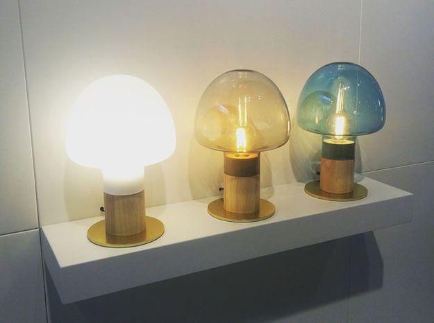 Les lampes de table en verre de Watt a Lamp