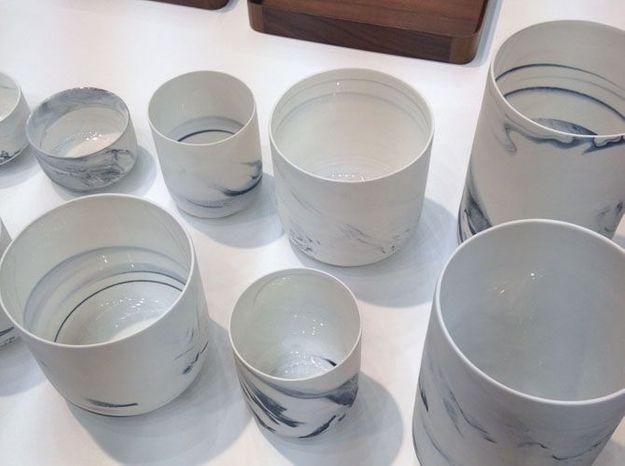 Les vases et les photophores en porcelaine marbrée de ComingB