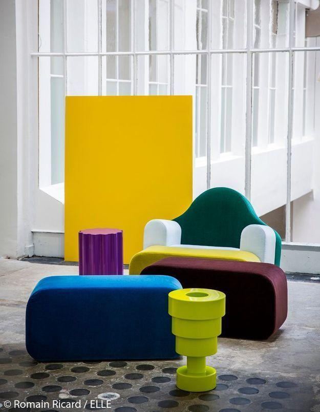 Assises colorées et molletonnées