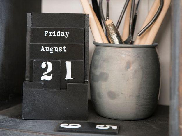 Un calendrier aussi beau que pratique