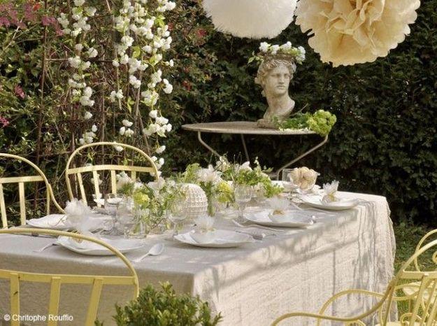 Table romantique campagne