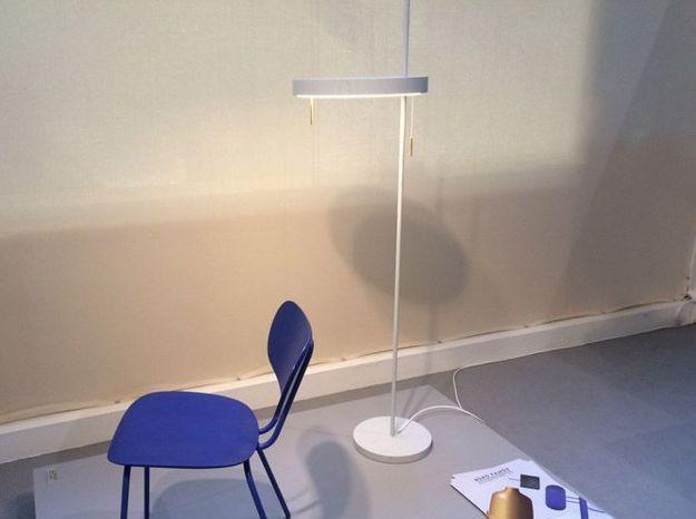 Lampe sur pied blanche design