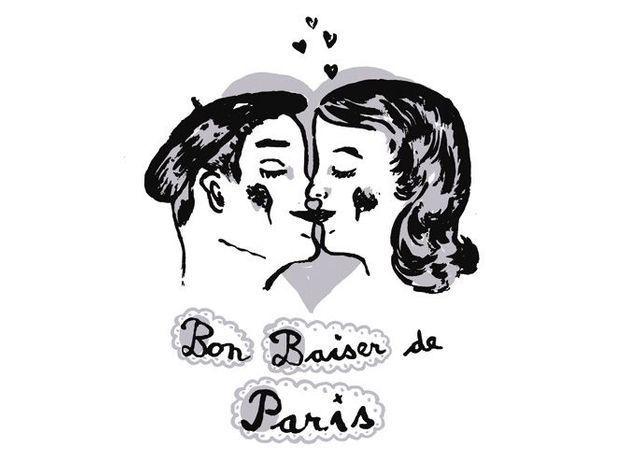 Stickers bon baiser de pari