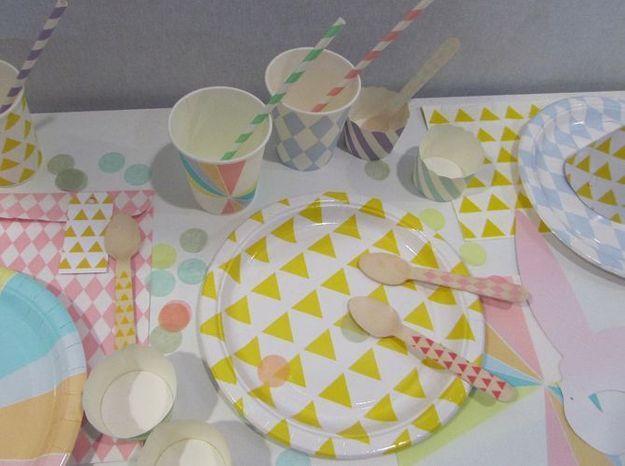 La vaisselle graphique et pastel de My Little Day