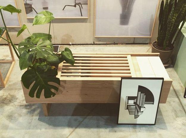 Le banc et porte plante de Kristian Dam