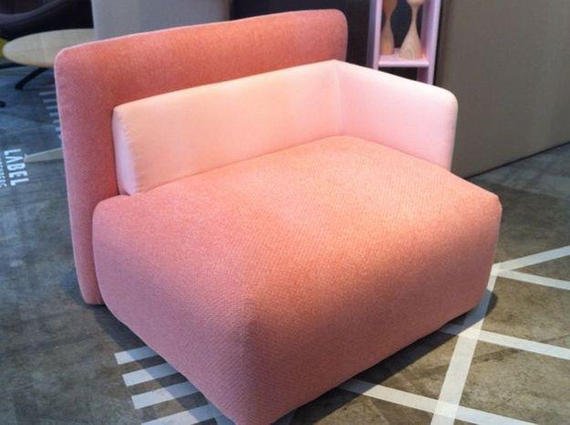 Le fauteuil rose poudré de Désio