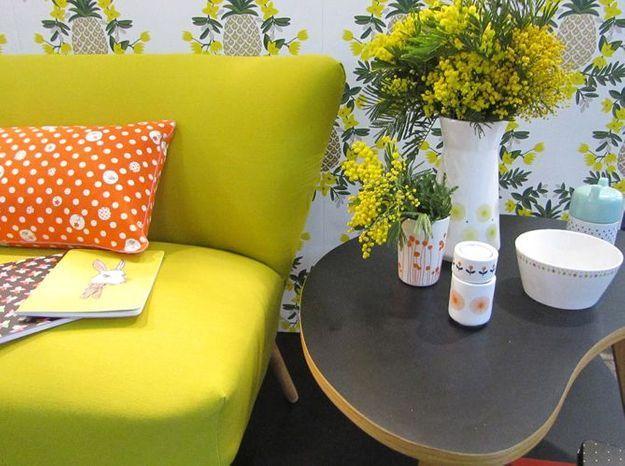 Le mobilier rétro jaune d'Atomic Soda