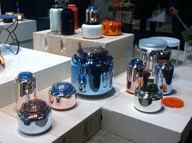 Les contenants en verre argenté et teinté de Pulpo