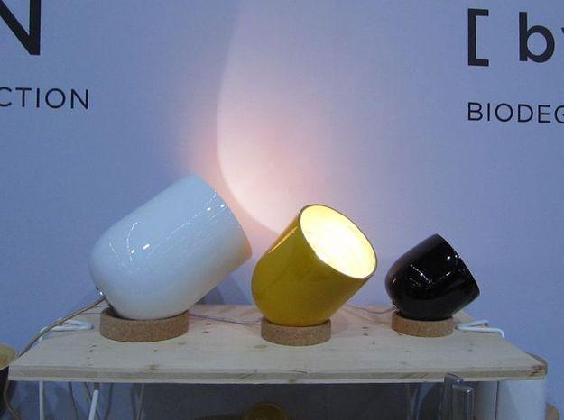 Les lampes en liège et bambou de Ekobo