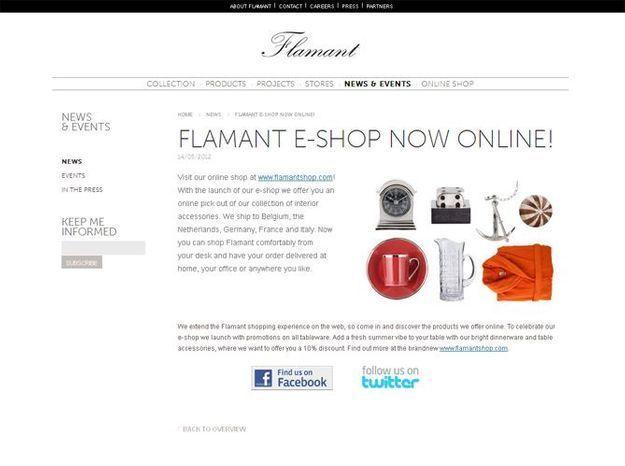 Flamant lance sa boutique en ligne!