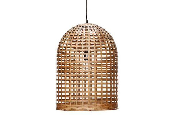 Lovely market suspension Bambou Osier