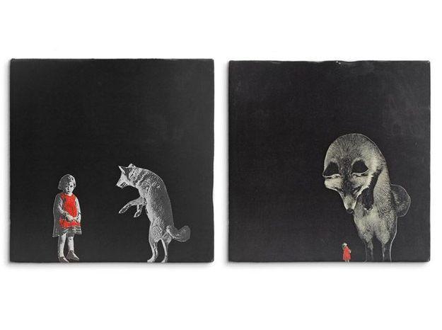 Des carreaux illustrés pour une touche poétique sur un mur