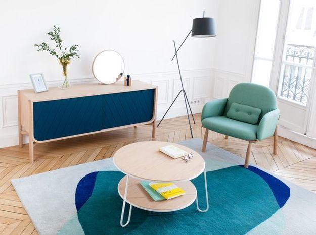 Un parquet et des meubles en bois vintage pour un effet rétro version 2016
