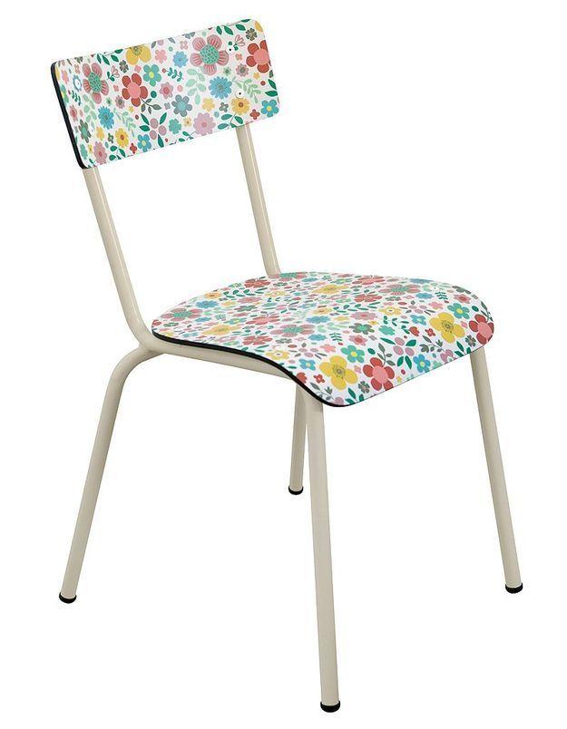 Chaise écolier Suzie motif Cache Cache, Mini labo Les Gambettes , Collection Capsule
