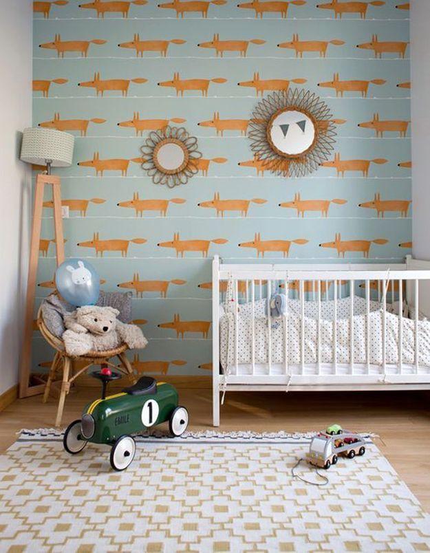 Une chambre de bébé tendance