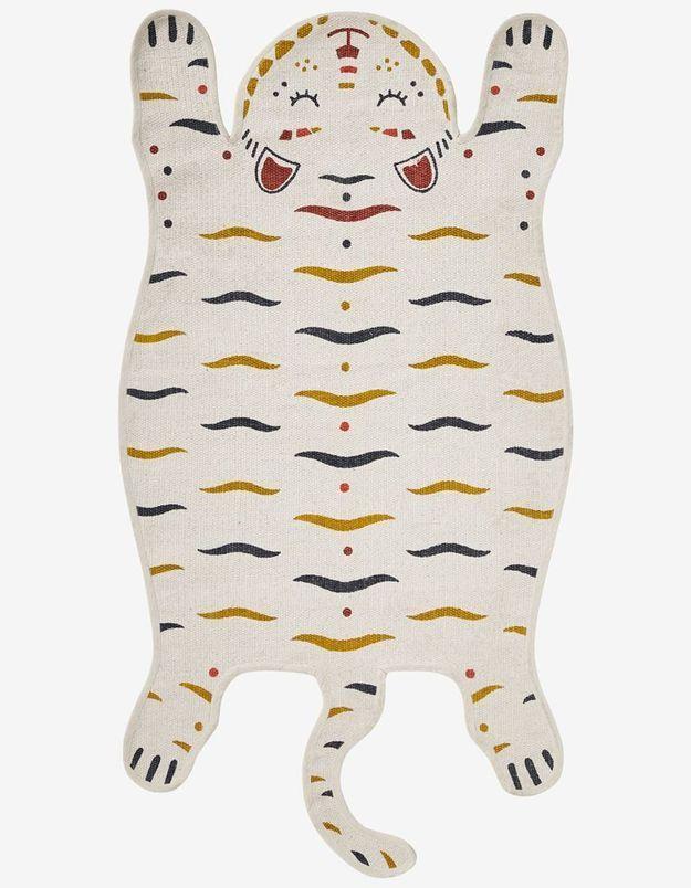 Tapis en forme de tigre pour enfant soldé Verbaudet