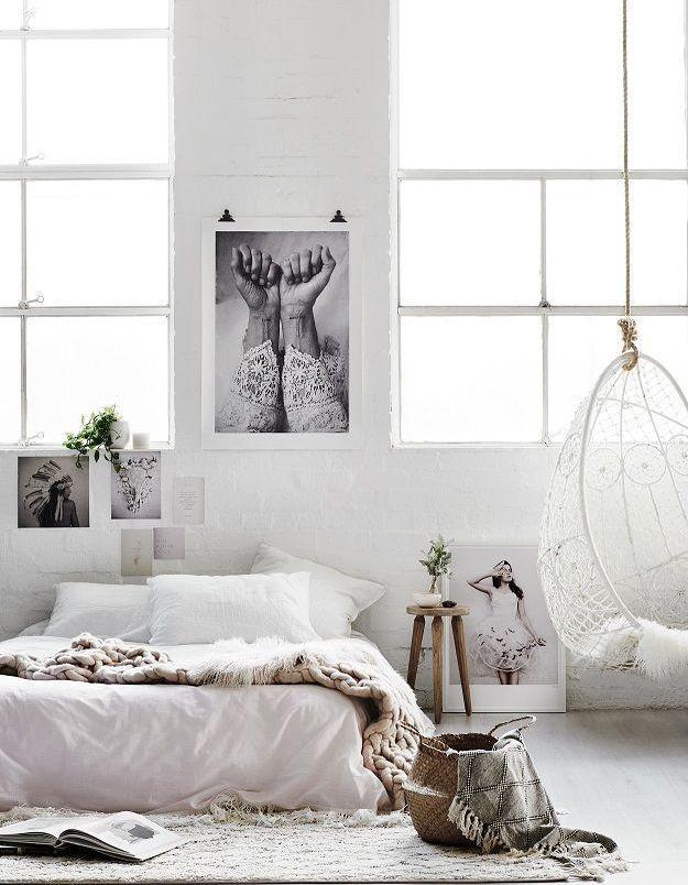 On pique quelques pièces au style berbère pour créer une chambre cosy