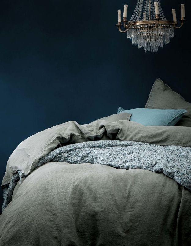 Une chambre bleue comme un cocon