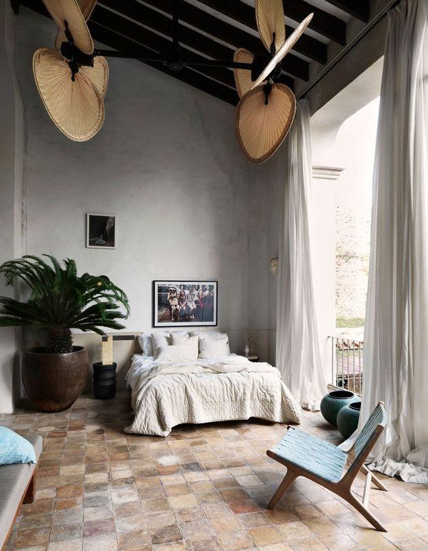 Une chambre bleue par petites touches