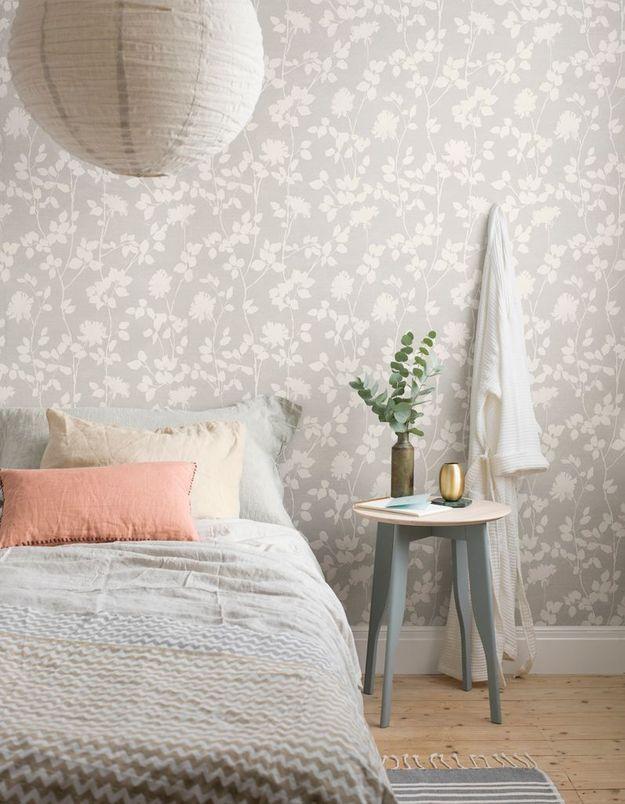 Choisir un papier peint doux pour une chambre cocooning