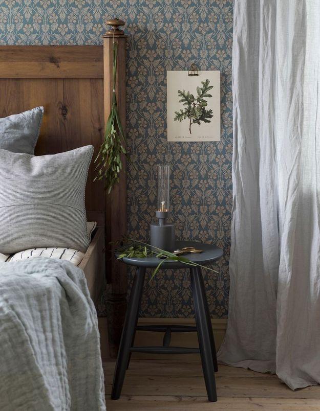 Une chambre grise esprit campagne chic