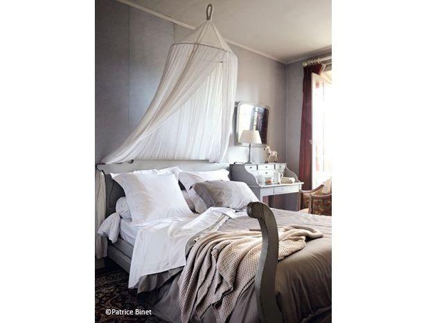 Chambre romantique gris