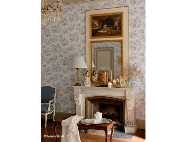 Chambre romantique toile de jouy