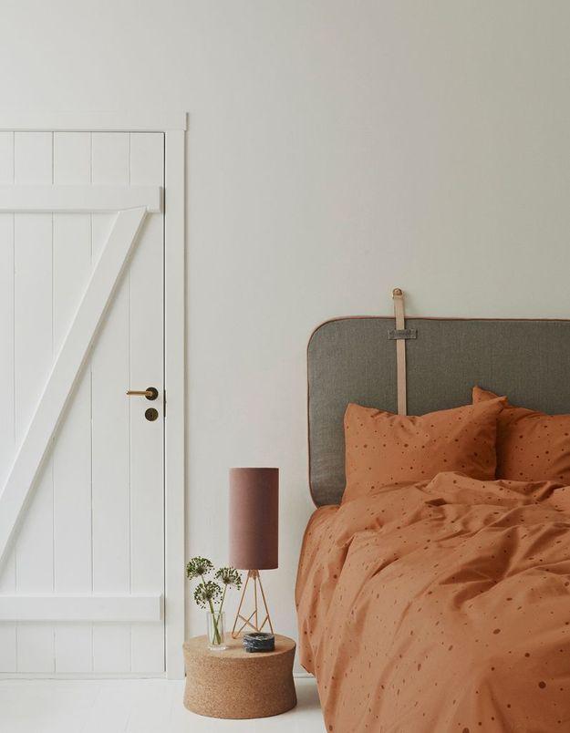 Adoptez les pois jusque sur le linge de lit de la chambre