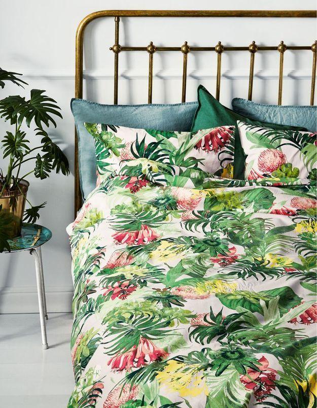 Linge de lit esprit jungle H&M Home
