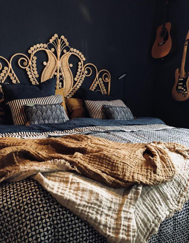 Couvre-lit en lin Le Monde Sauvage