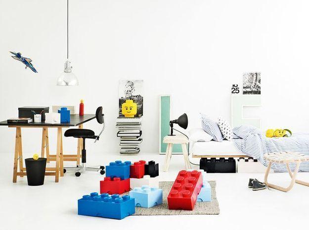 Boîtes de rangement en forme de Lego